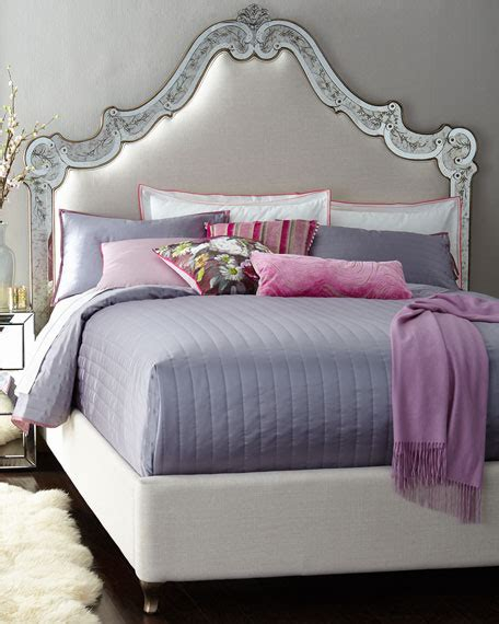 mirrored queen bed cynthia rowley for hooker furniture venetian mirrored beds