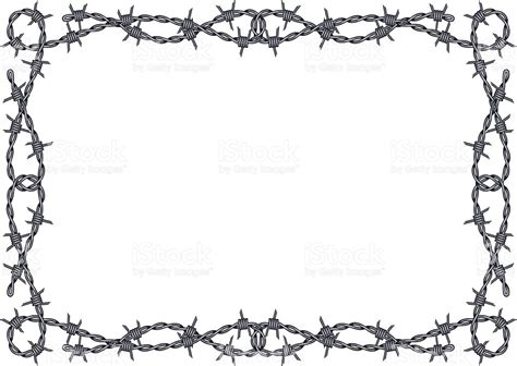 black and white barbed wire border framed background