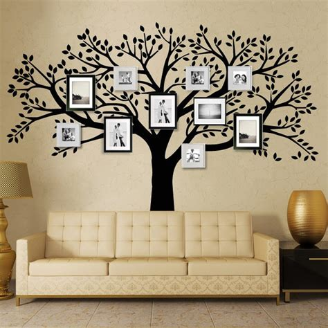 oversized wall stickers zn brand family tree wall decals oversized photo frame