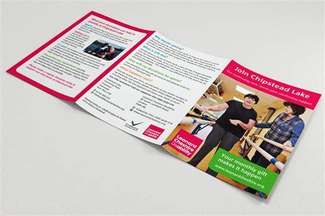 free leaflet design uk leonard cheshire charity leaflet design
