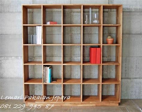 Jual Rak Buku Kayu Jati rak buku lemari minimalis kayu jati lemaripakaianjepara