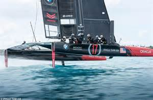 yacht hits boat airbus and oracle unveil flying yacht for america s cup