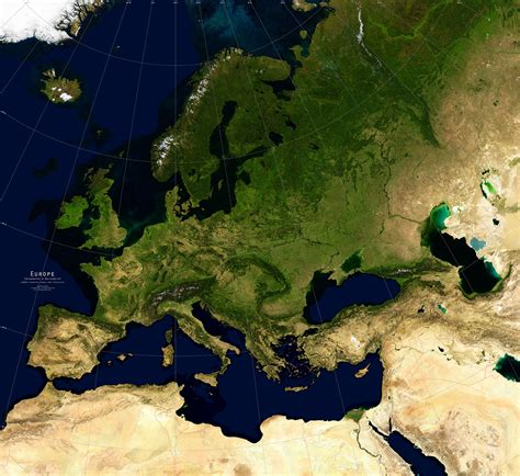 map of europe images europe satellite image giclee print physical