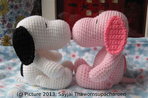amigurumi snoopy pattern pink snoopy sayjai amigurumi crochet patterns k and j