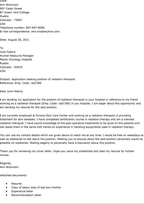 Occupational Therapist Cover Letter by Sle New Grad Respiratory Therapy Cover Letter