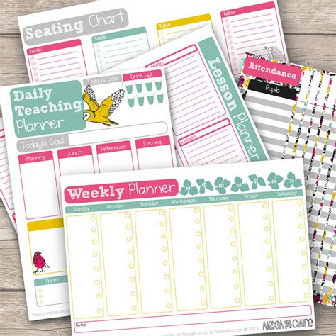 printable planner teacher teacher planner 40 pages by alexia claire