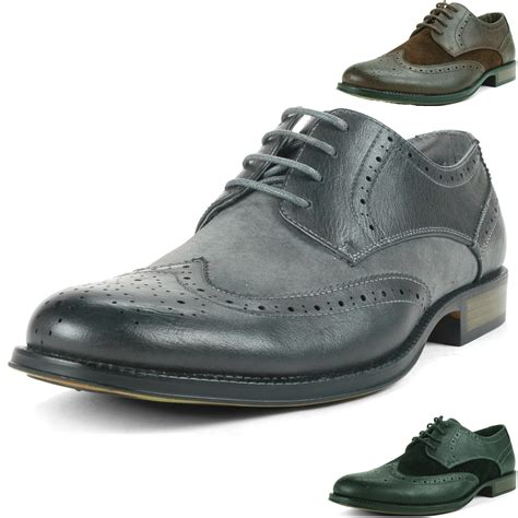 two tone mens shoes alpine swiss zurich s wing tip dress shoes two tone
