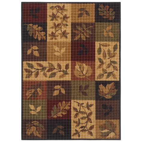 Shaw Living Area Rugs Shop Shaw Living Oakton Rectangular Multicolor Block Tufted Area Rug Common 5 Ft X 8 Ft