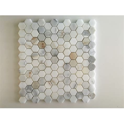 calacatta marmor kaufen calacatta gold sechseck marmor mosaik fliesen