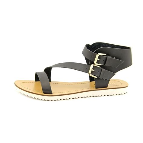 black sandals report report rodeo faux leather black gladiator