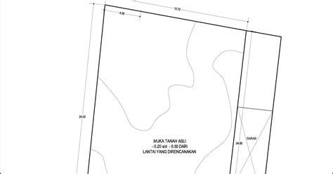 contoh desain rumah denah rumah di tanah berkontur tipe 336 m2