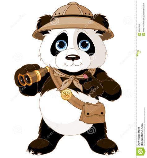 safari binoculars clipart panda safari explorer stock vector illustration of