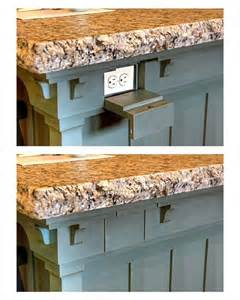 kitchen island outlets keep electrical outlets out of sight on your kitchen