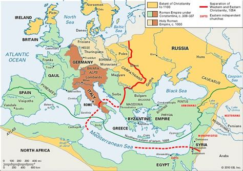 middle east map rome spread of christianity to ad 1100 in europe africa