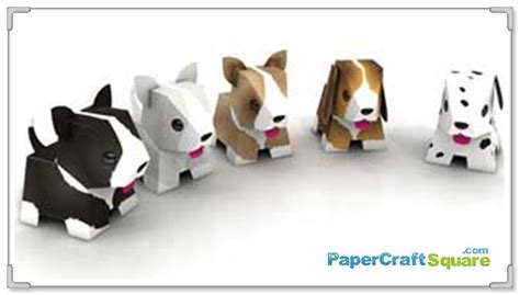 animal friends jogja puppy paper toys