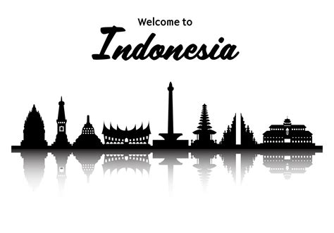 indonesia famous landmark vector   vectors