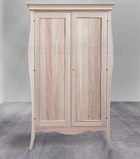 armadi in legno grezzo armadio classico sagomato 2 ante grezzo
