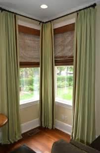 Corner Curtain Rod Ideas Decor Brilliant Curtain Rods For Corner Windows Inspiration Windows Curtains Corner Curtain Rods Decor