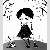 Wednesday Addams Drawing   500 x 577 png 111kB