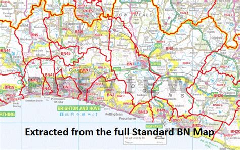 How To Select Sheets by Bn Postcode Map