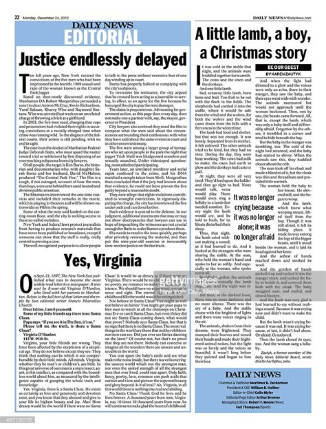 editorial section daily news page 22 december 24 headline editorial page