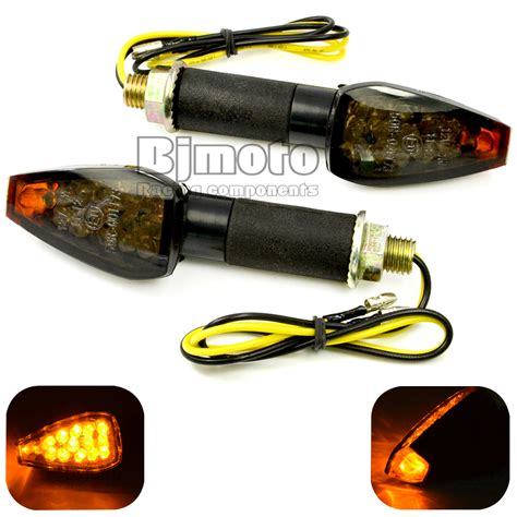 Universal Motorcycle Black Housing Lens Led