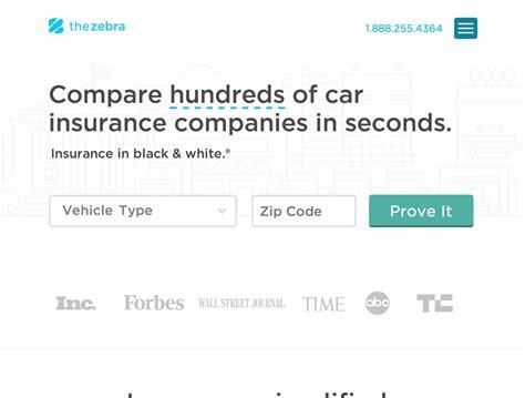Compare Car Insurance Policy by The Zebra Compare Auto Insurance Policies Appvita