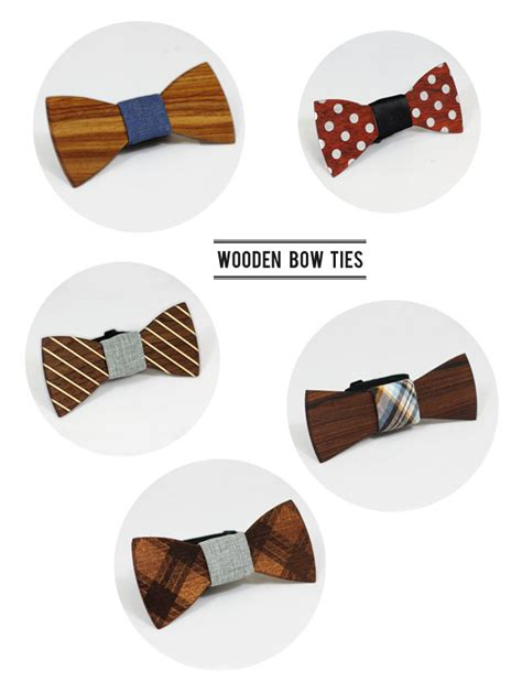 wooden bow ties from two guys bow tie