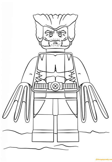 printable coloring pages lego heroes lego super heroes wolverine coloring page free coloring