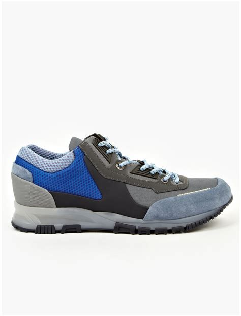 blue lanvin sneakers lanvin mens blue running sneakers in blue for lyst
