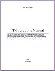 franchise operations manual template free image gallery it operations manual