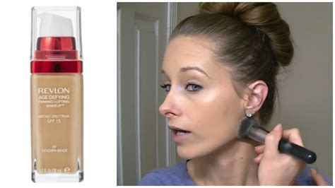 Revlon Age Defying Foundation review demo revlon age defying firming lifting