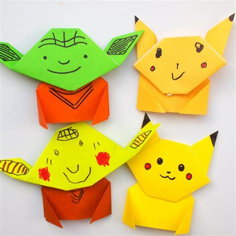 how to make an origami pikachu step by step easy origami pikachu tutorial pink stripey socks