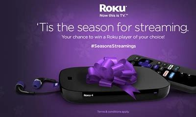 Holiday Sweepstakes 2015 - giveaway roku holiday sweepstakes