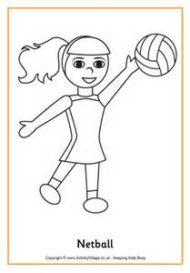 netball colouring page