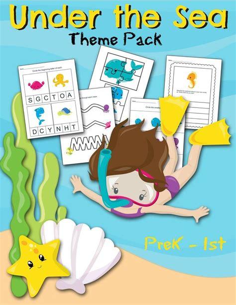 free the sea worksheet printable preschool set