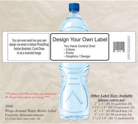 design bottle label online design your own water bottle label