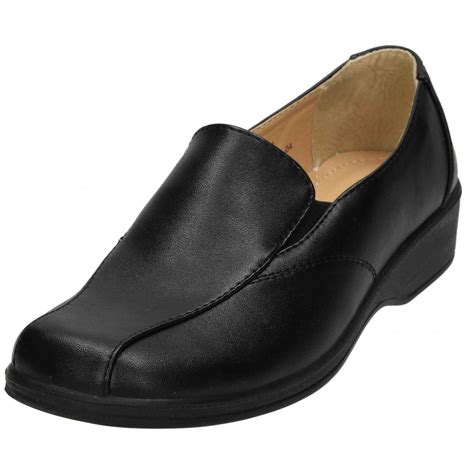 dr lightfoot faux leather flat lightweight slip on comfy