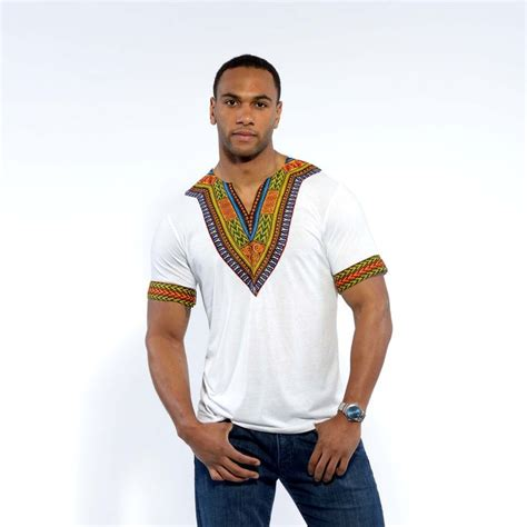 african wear dresses for men men s african print dashiki t shirt white d iyanu men