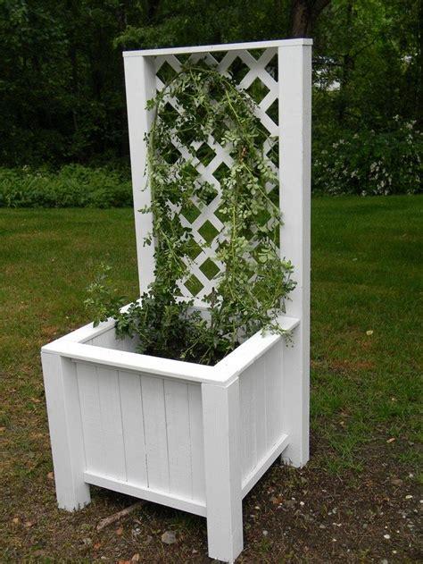 build a garden grow box and trellis combo diy projects