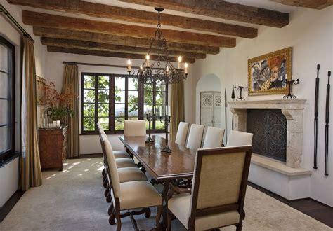 mediterranean dining room mediterranean dining room with exposed beam hardwood