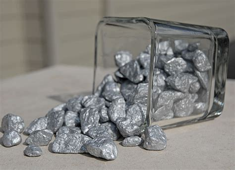 Silver Pebbles For Vases by Silver Cobble Stones 1 Lb Vase Fillers