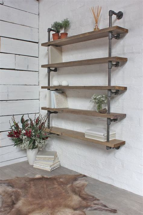 pipe and wood shelves 17 best images about steel pipes on butcher blocks industrial and shelves