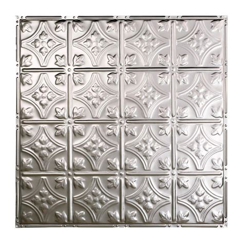ceiling tiles home depot great lakes tin hamilton 2 ft x 2 ft nail up tin ceiling tile in unfinished t52 03 the home