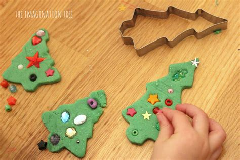 Easy Home Made Christmas Decorations invitation to decorate play dough christmas trees the