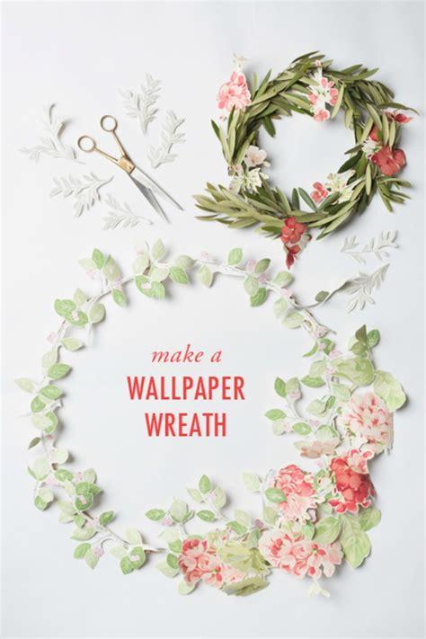 wallpaper scrap crafts make a pretty floral wreath from wallpaper scraps