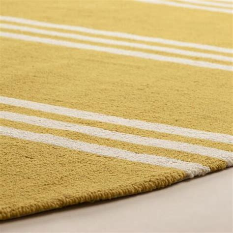 Yellow Outdoor Rug Lemon Yellow Hooked Indoor Outdoor Area Rug World Market