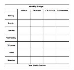Safe Income Calculation Template by Sle Weekly Budget 7 Documents In Word Pdf Excel