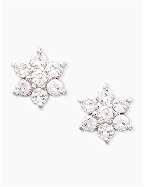 Flower Stud Earrings cz sterling silver flower stud earrings stage stores