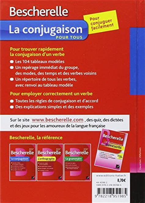 bescherelle bescherelle la bescherelle la conjugaison pour tous bescherelle francais french edition desertcart